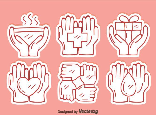 Sketch Healing Hands Element Vector