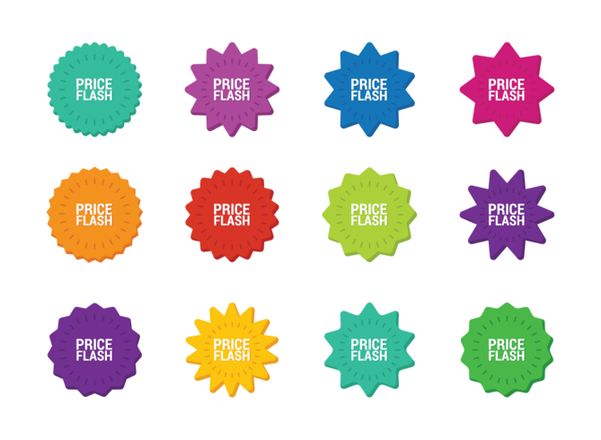 Price Flash Shapes Vector