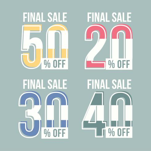 Vector Price Sale Graphics