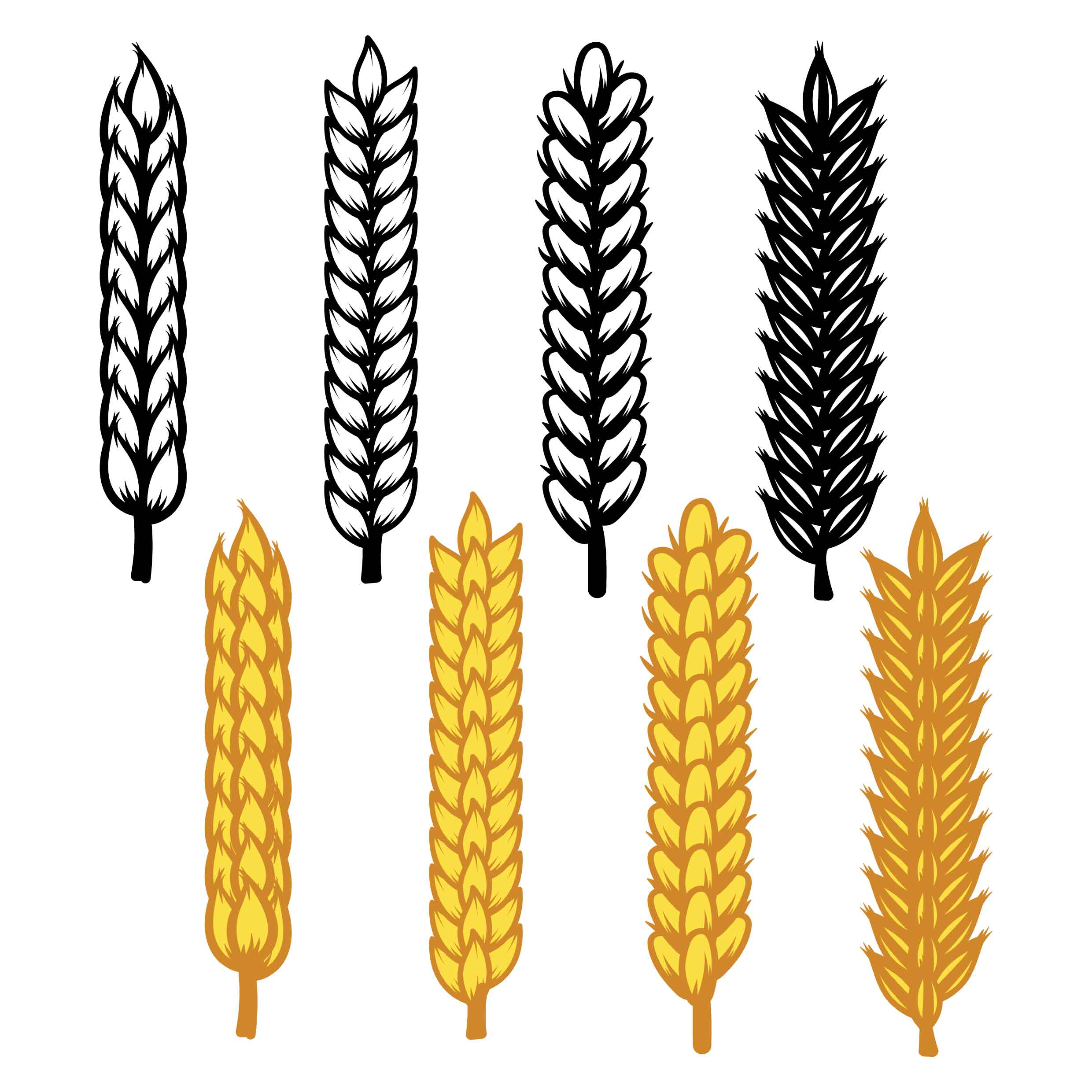 Wheat Ears Icon Vector - Download Free Vector Art, Stock ...