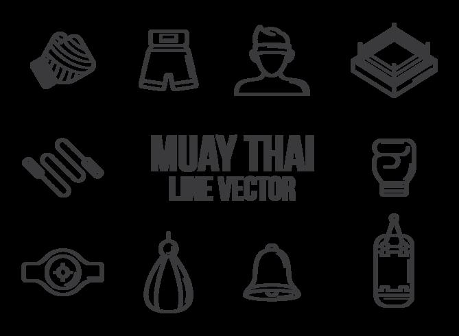 Vecteur d'icônes Muay Thai
