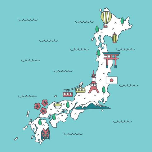 Japanese Map Vector Download Free Vector Art Stock Graphics - Japan map vector art