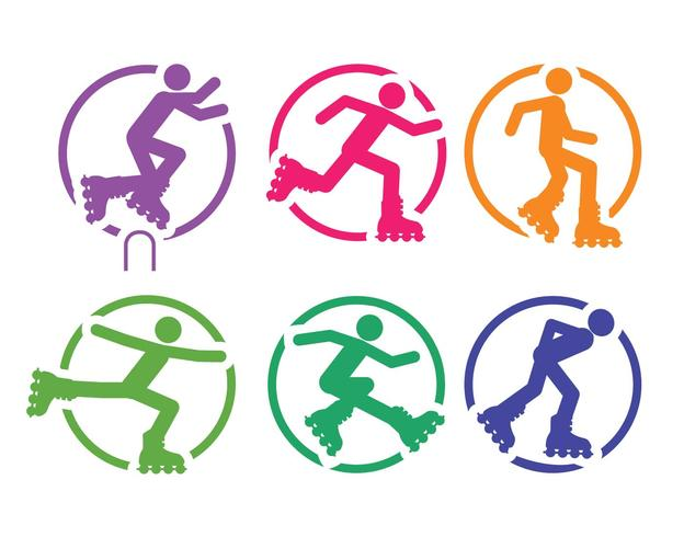 rollerblade vector set