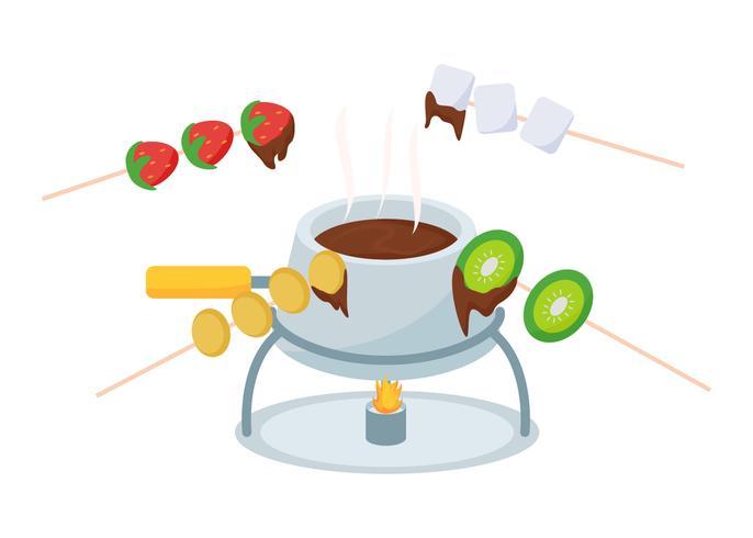 Gratis Fondue Chokladvektorer