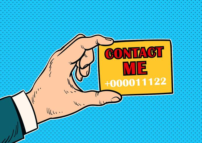 Neem contact met me op Concept Vector
