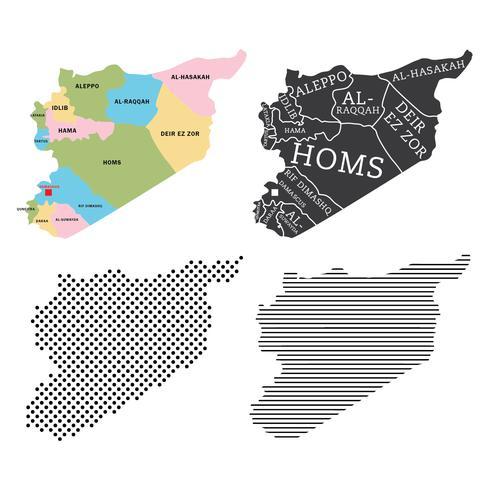 Syrië kaart Vectoren