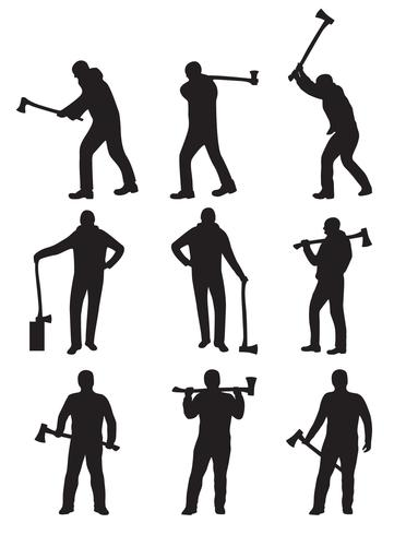 woodcutter silhouette vectors download free vector art stock rh vecteezy com silhouette monuments vectors silhouette vector art free