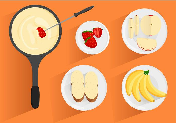 Fondue Top View Free Vector