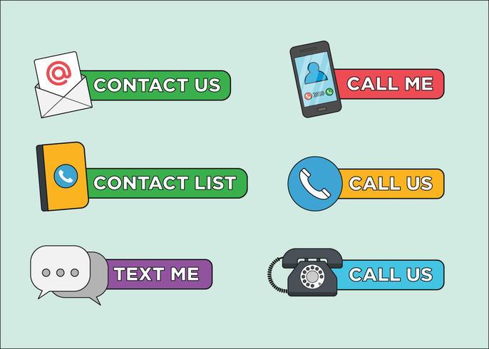 Contact Icon Vectors
