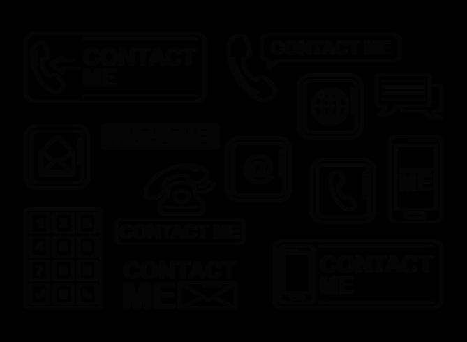 Contattimi icone vettoriali