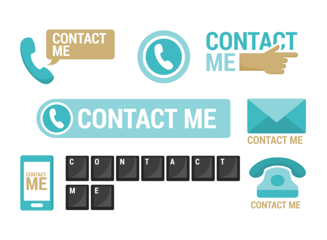 Contact Me Icons Vector
