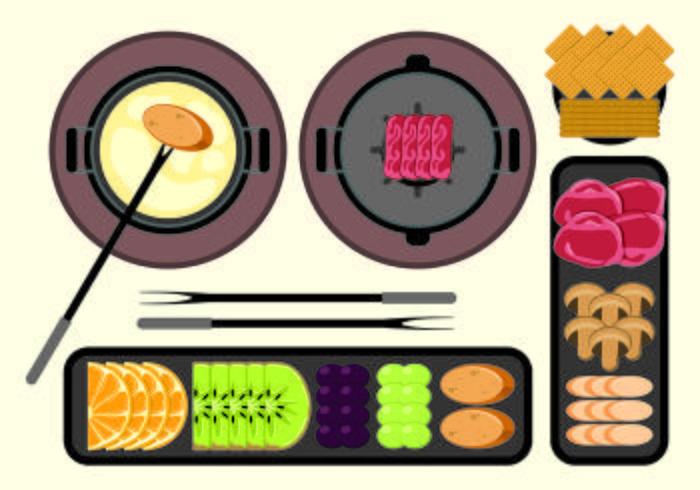 Illustration Of Fondue Concept