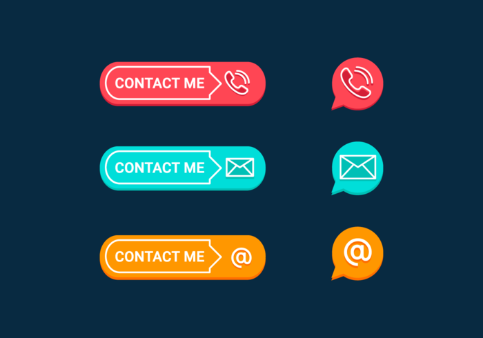 Contact Me Free Vector Pack