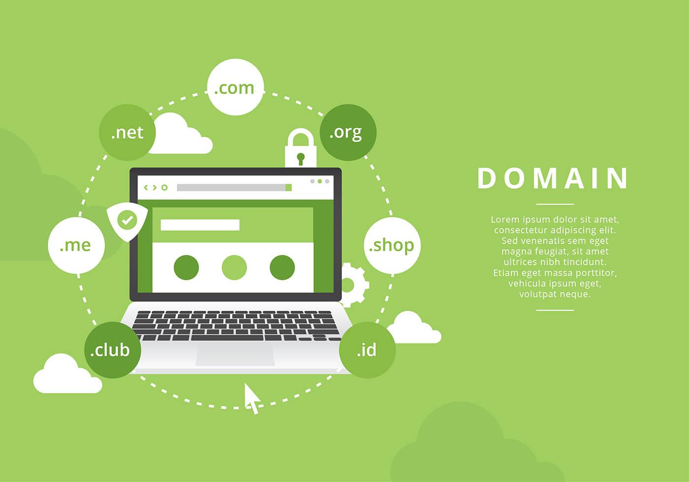 Vector Illustration Web Designs: Website Domain Illustration Free Vector