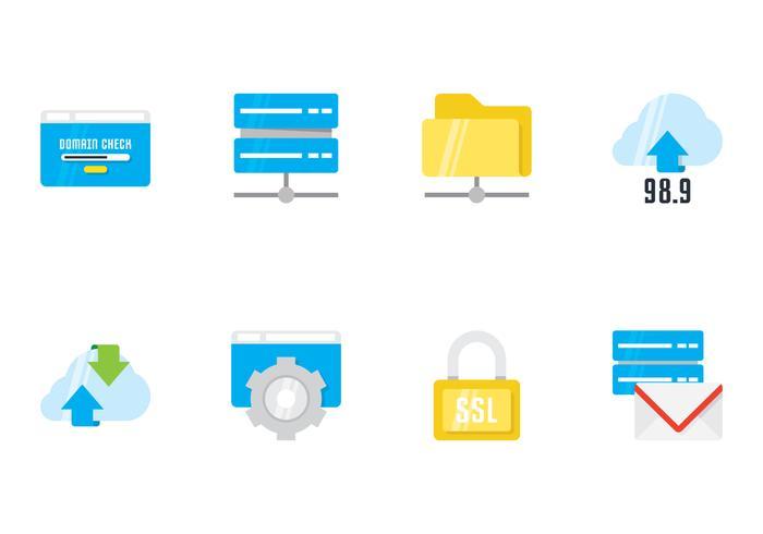 Hosting platta ikoner