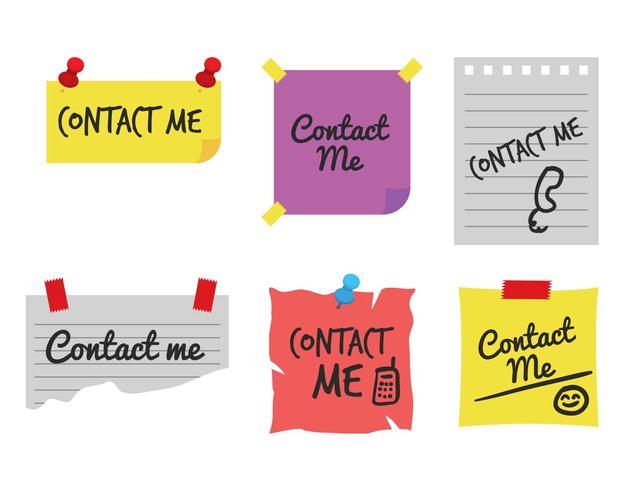 Contact me vector set