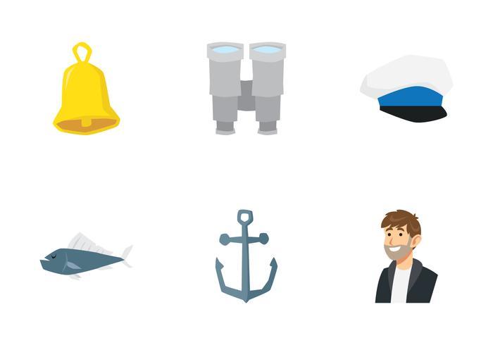 jeu d'icônes de marin