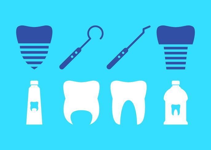 Vectores únicos de dientes falsos gratis