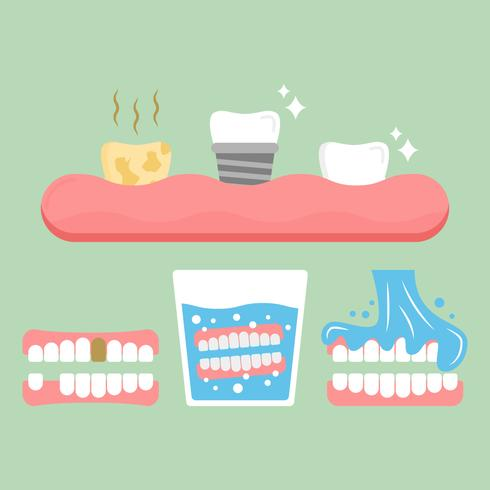 Free Unique False Teeth Vectors