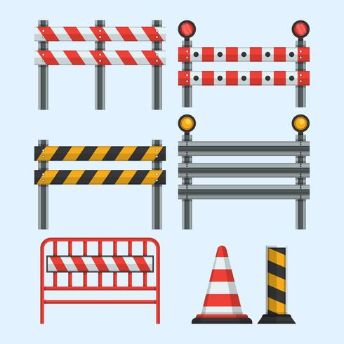 Collection of Guardrail Vector Illustration