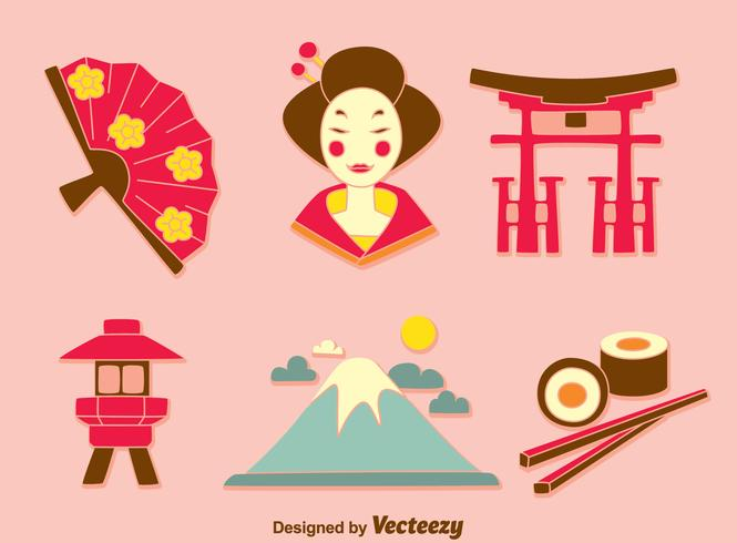 Japanse cultuur Element Vector