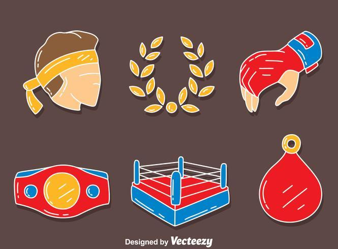Muay Thai Element Vector