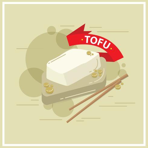 Hälsosam Tofu Vector