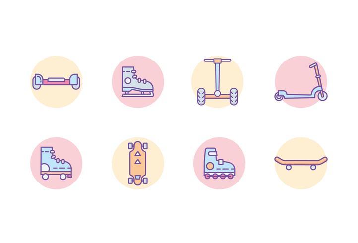 ícones de esporte de patinação vetor