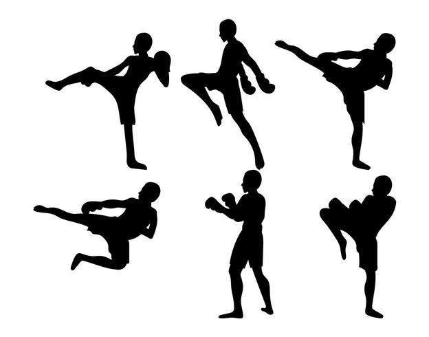 Muay Thai Vektor-Set