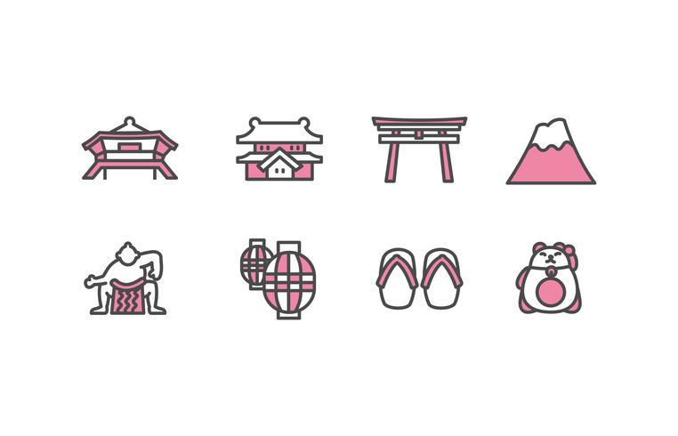 Paquete de iconos de Japón