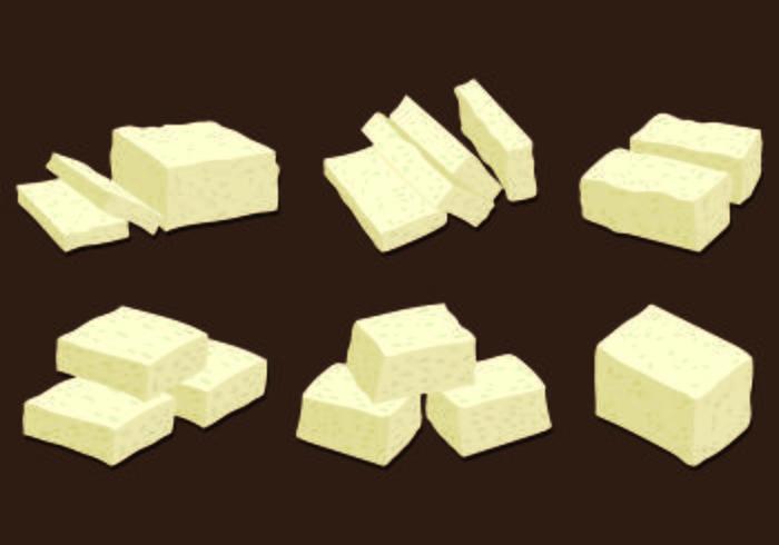 Set Of Tofu Vector
