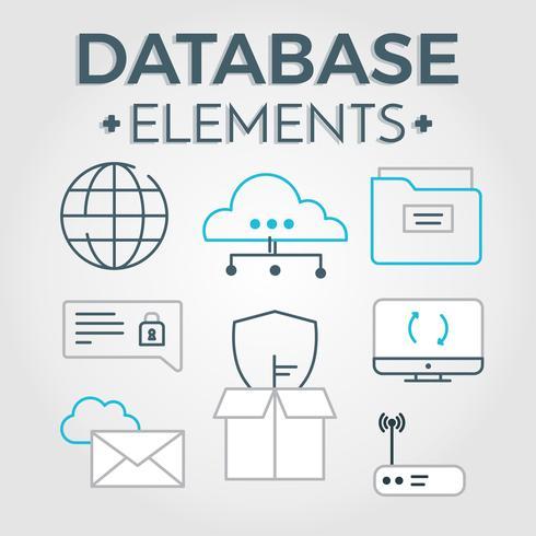 Free Database Elements Vector - Download Free Vectors