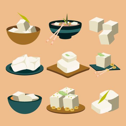Ícone de ícones de alimentos veganos Tofu grátis