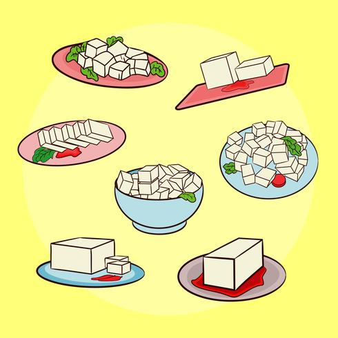 Tofu Dishes Vector