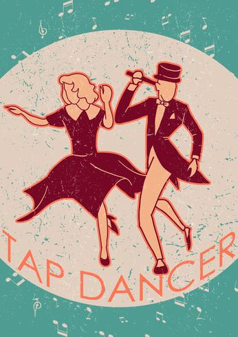 Couple Tap Dancing Vector