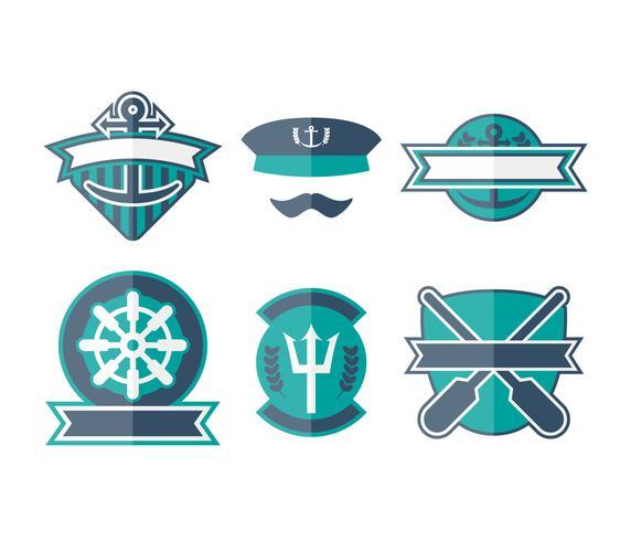 Gratis unieke zeeman badge vectoren