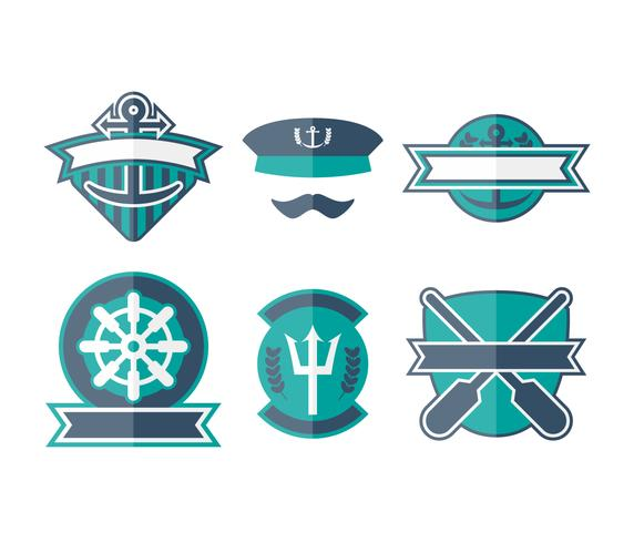 Free Unique Seaman Badge Vectors