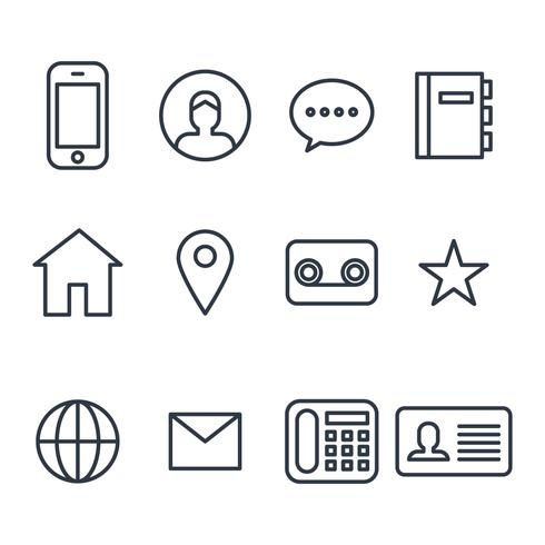 Contact Outlined Icons