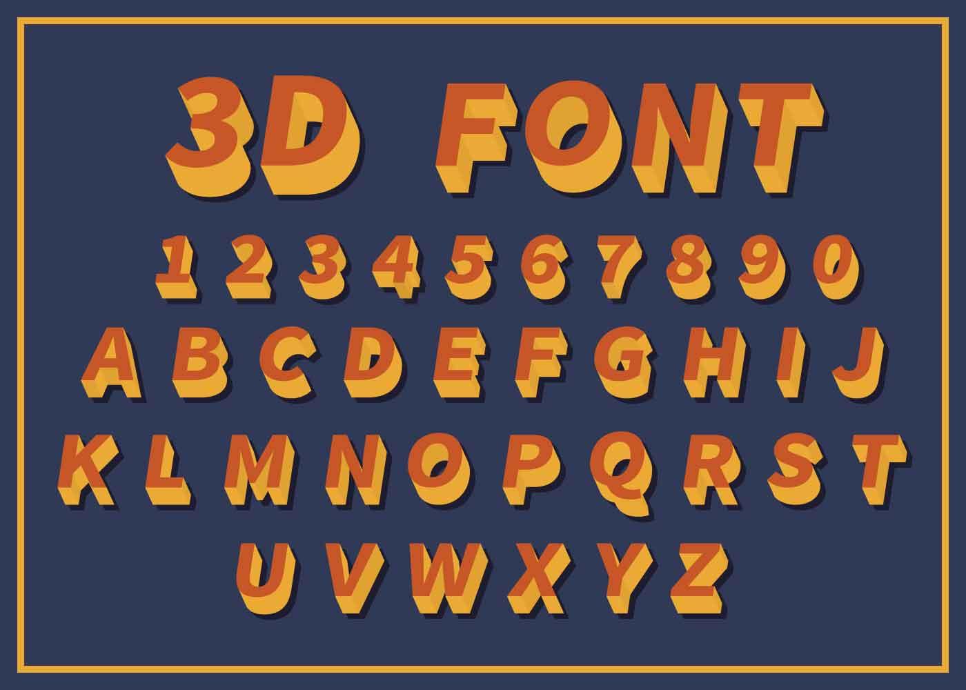 Download Free 3D Font Set - Download Free Vectors, Clipart Graphics ...
