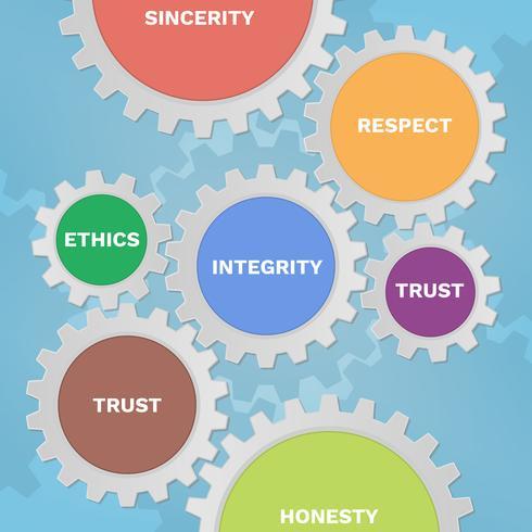 Sociale verantwoordelijkheid Solid Gear Icons