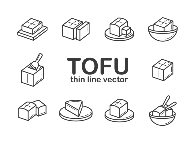 Tofu Icons Vector