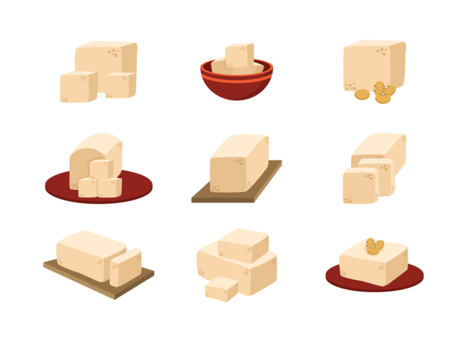 vector de iconos de tofu