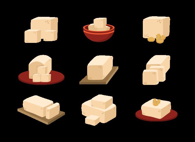 Tofu Icons Vector