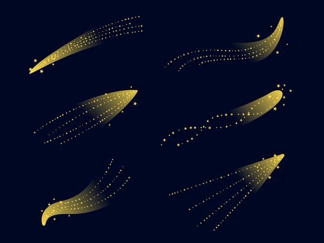 vector de polvo de estrella amarilla
