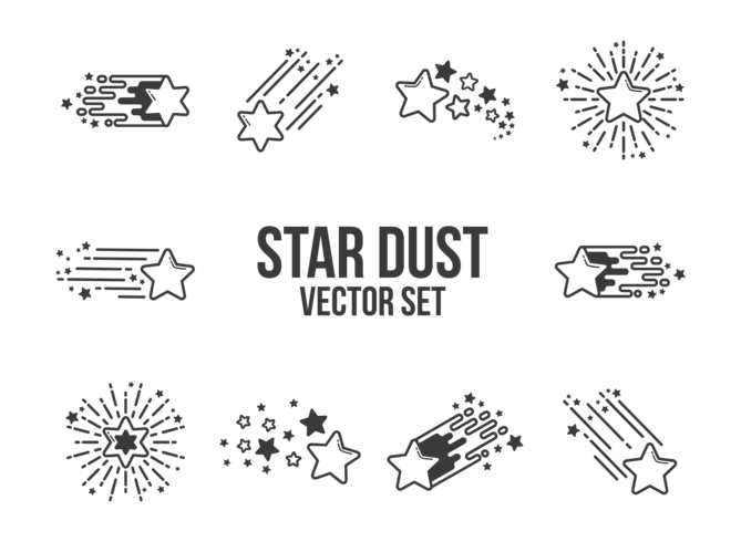 Star Dust Icons Vector