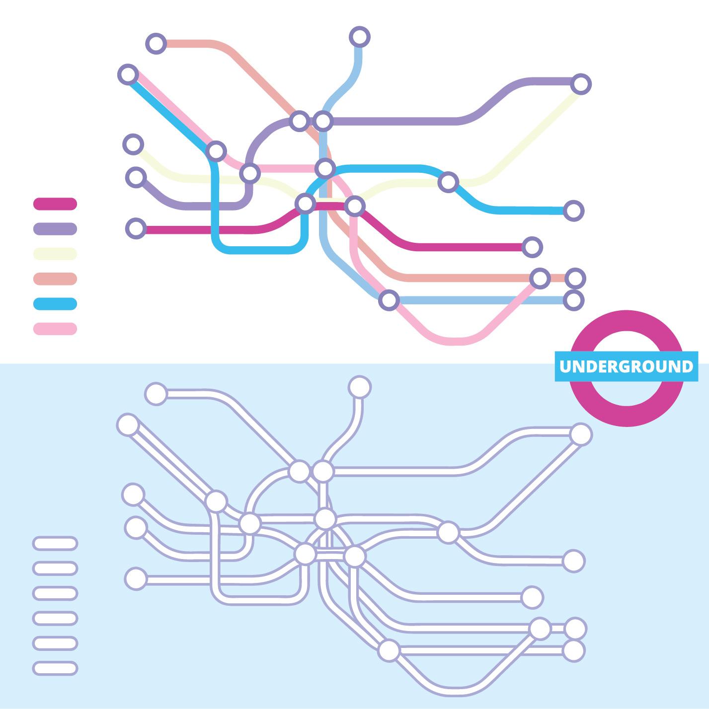 Underground Vector Vector Tube Map - Down...
