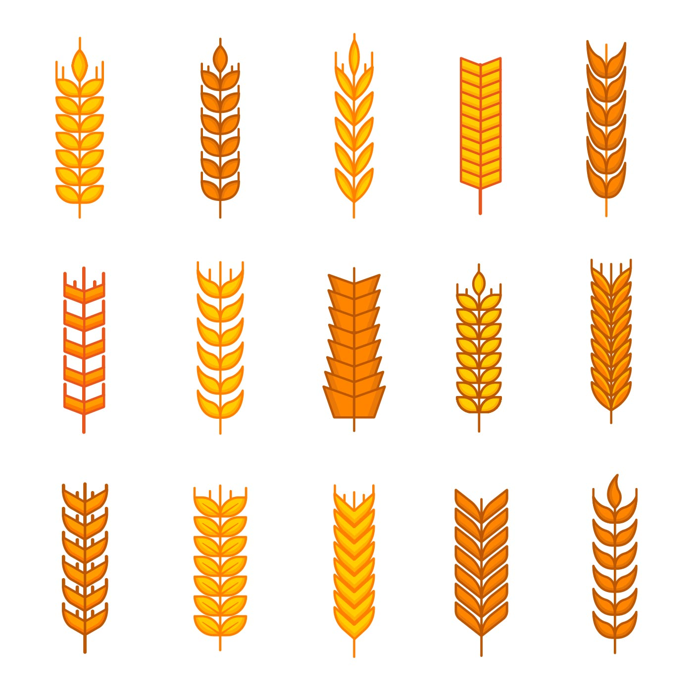 Free Wheat Ears Icons Vector - Download Free Vector Art ...