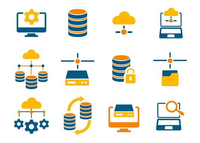 Free Database and Network Icons Vector