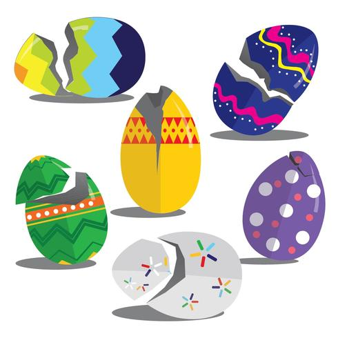Easter Broken Egg Vectors