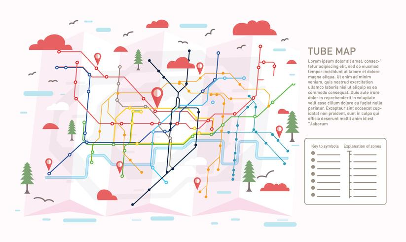 Tube Map Ilustration Vector